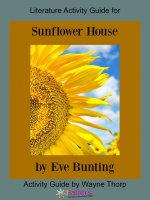 Activity Guide: Literature Activity Guide for Sunflower House
