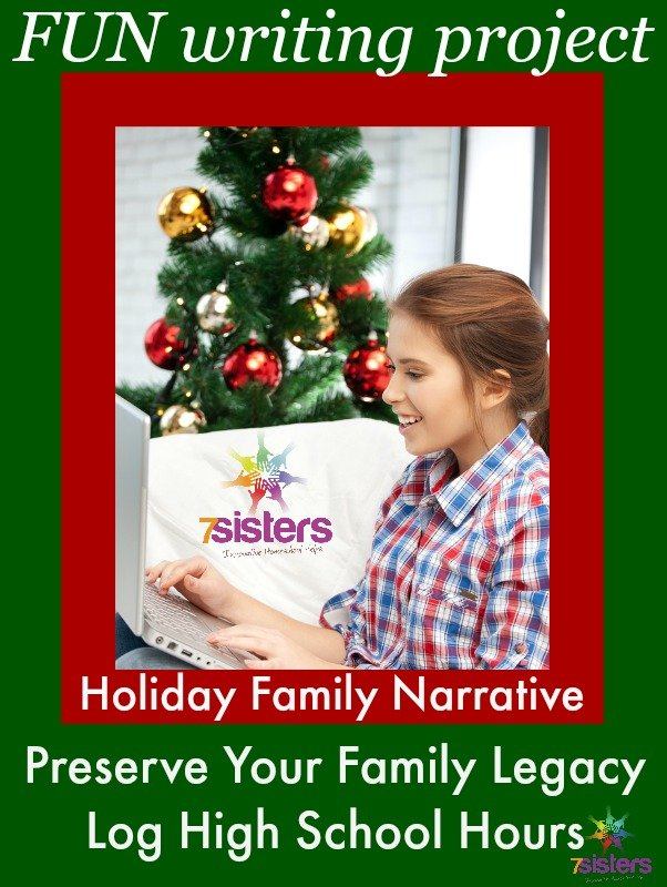 Family Legacy Holiday Writing Project 7SistersHomeschool.com