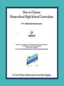 How to Choose Homeschool High School Curriculum. Download this freebie for helpful tips and guidelines for choosing curriculum for homeschooling teens.