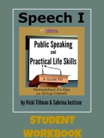 Speech I Student Workbook