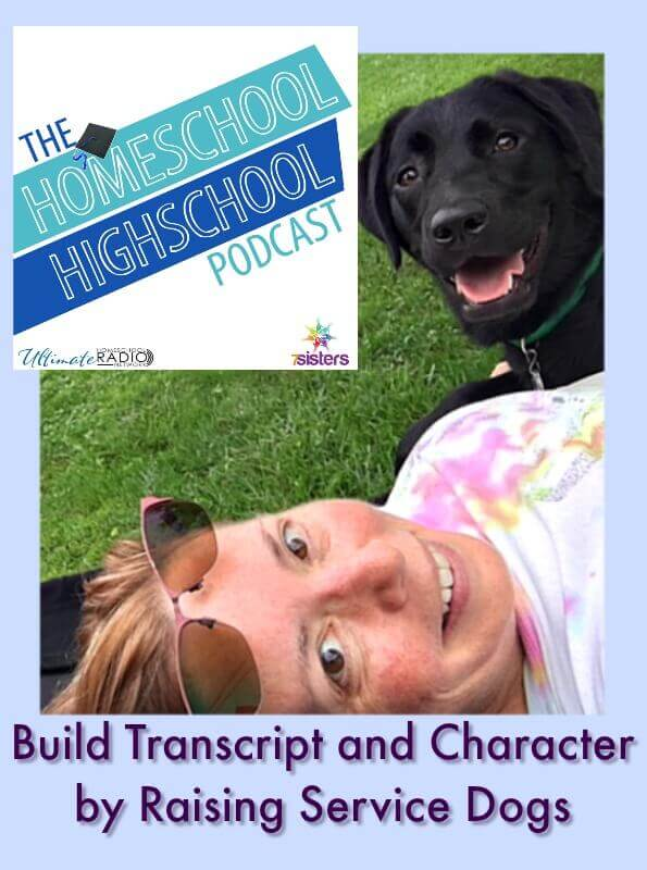 HSHSP Ep 79 Building Transcripts and Character by Raising Service Dogs Volunteering as a service animal trainer is great service for the homeschool transcript.