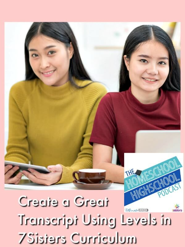 Podcast HSHSP How to Level Your Teens' Courses Using 7SistersHomeschool Curriculum