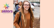10 Top Confidence Building Soft Skills Teens Need for Success 7SistersHomeschool.com #SoftSkillsForTeens #SocialSkillsForTeens #HomeschoolSocialSkills #7SistersHomeschool This photo show a smiling teen girl walking to a job interview feeling nervous but confident.