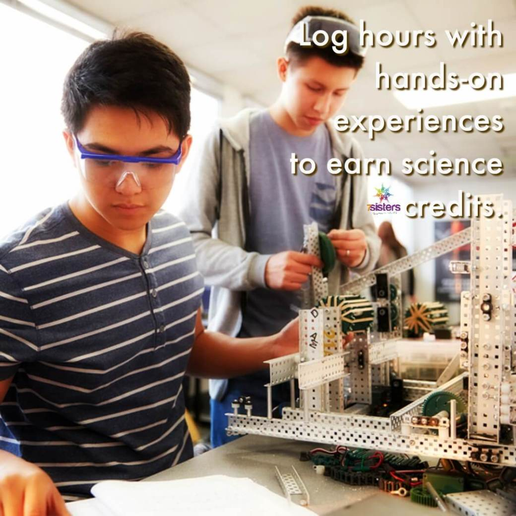 Log hours with hands-on experiences to earn science credits. #HomeschoolHighSchool #HomeschoolSpecialNeeds
