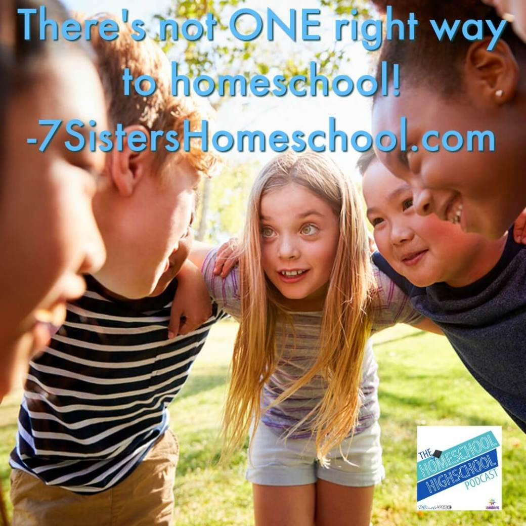 There's not ONE right way to homeschool. Find your teens' gifts and talents, allow education to fit their needs and goals. #HomeschoolHighSchool