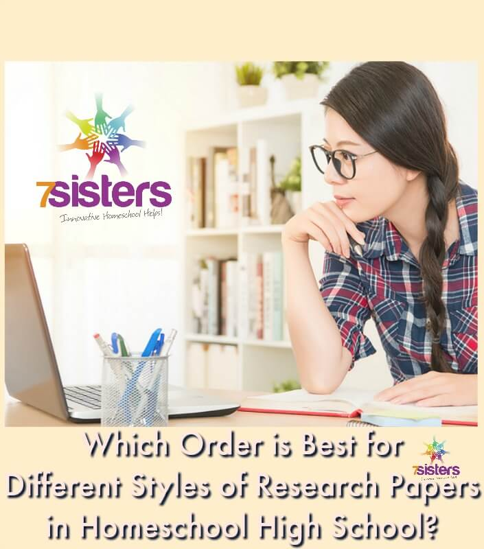 Which Order is Best for Different Styles of Research Papers in Homeschool High School? There's not ONE right way to handle research paper writing in homeschool high school BUT here are some suggestions to get you started.