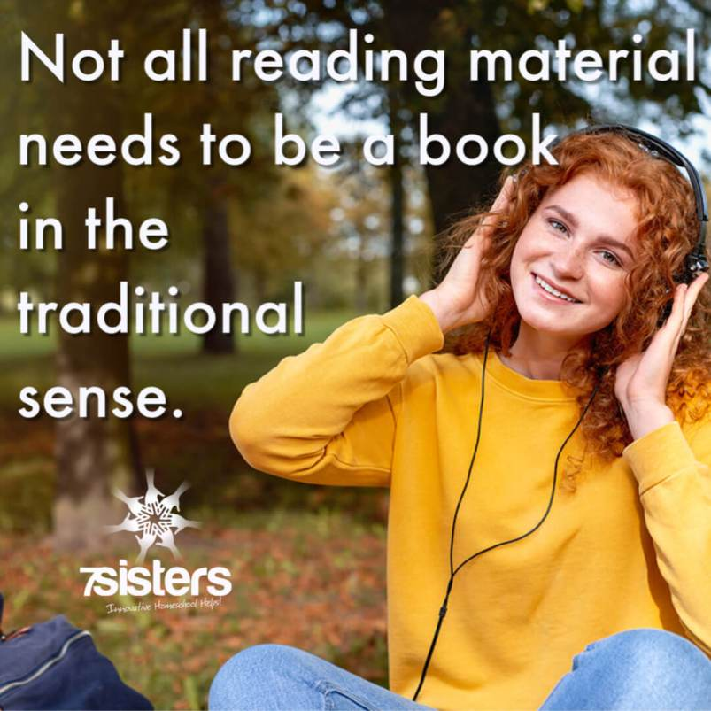 The cool thing is that not all reading material needs to be a book in the traditional sense. There are many kinds of reading material that can count as books for the homeschool high school booklist.