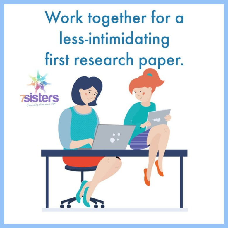 Work together for a less-intimidating first research paper. 7Sisters Research Writing Readiness is a learn-together research paper writing guide for late middle school or early high school.