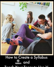 How to Create a Syllabus and Teach Your Teens to Use it! Great study skills and independent learning happens when homeschool high schoolers can use a syllabus.