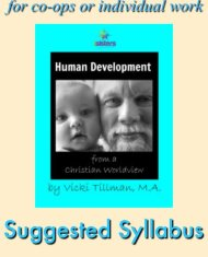 Human Development Suggested Syllabus. This syllabus accompanies the textbook: Human Development from a Christian Worldview