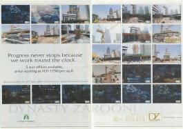 al fajer properties advertisement dubai with false construction status