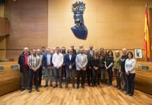 Diputación de Valencia junto a los alcaldes de los pueblos con menos de 200 habitantes de Valencia