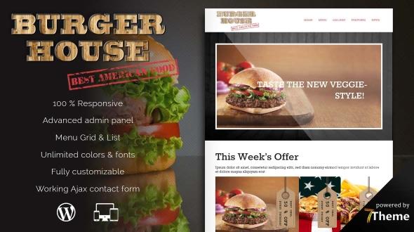 Burgerhouse Restaurant WordPress Theme