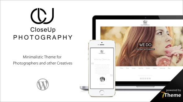 Closeup Photography WordPress Theme
