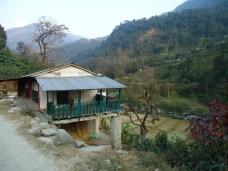 Casas camino a Chimrung