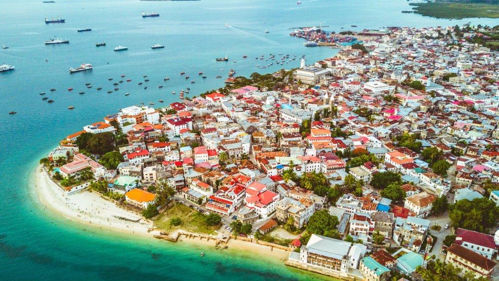 Zanzibar Aerial view