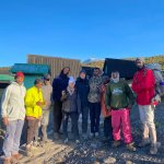 Seven Wonders Safaris Client with Guides and Chef