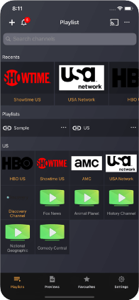 IPTV Player: Tocar lista de reprodução m3U