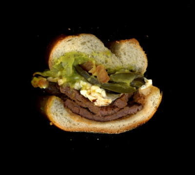 Yola's: Grilled Steak Torta, Steak, Beans, Cheese, Salsa Verde, Jalapenos, on a hero