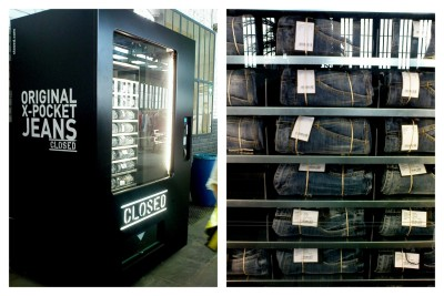 Jeans vending machine by Closed.