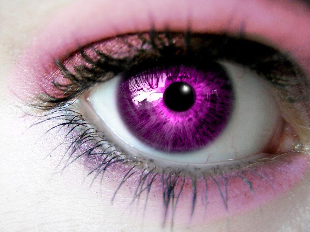 People Natural Violet Eyes