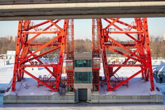 Amazing Zhivopisny Bridge On Moskva River, Russia