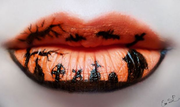 Beautifully Creepy Halloween Lip Makeup Ideas By Eva Pernas Funotic Com
