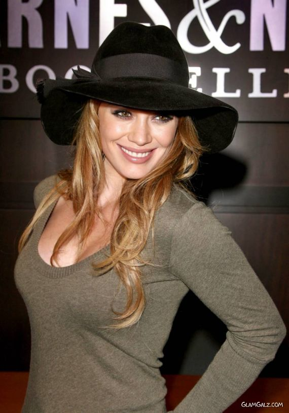 Hilary Duff Promotes Elixir at The Grove
