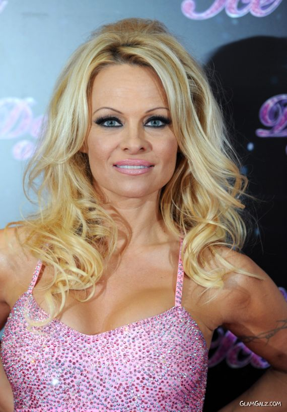 Pamela Anderson At The Launch Of Dancing On Ice