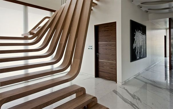 Beautiful Stairs That Will Make Climbing To The Second Floor Less   Second Floor Stairs Design   Tree Trunk   Elegant   3Rd Floor   Creative   Tight Space