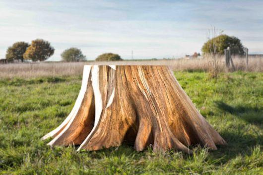 Beautifully Designed Natural Tree Stump Table