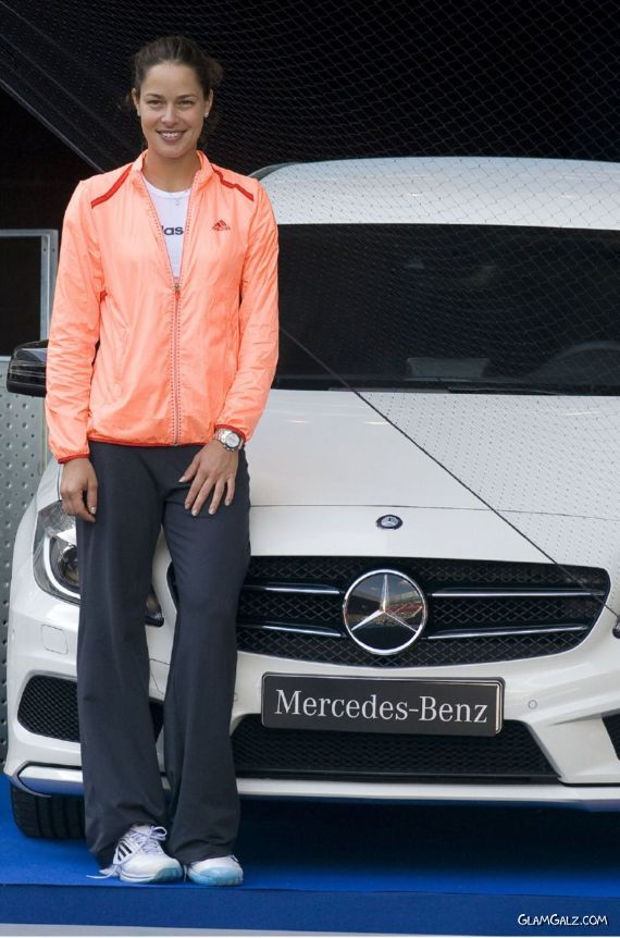 Ana Ivanovic Promotes Mercedes At The Madrid Open