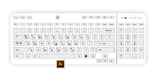 Wireless Keyboard With Multi Function Shortcut And Language Keys