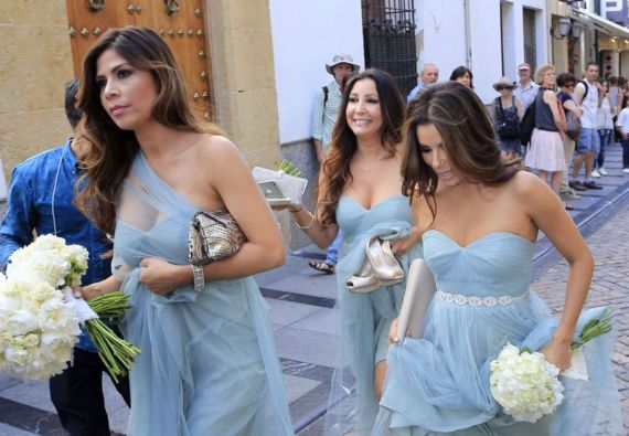 Eva Longoria at Friend's Wedding in Cordoba