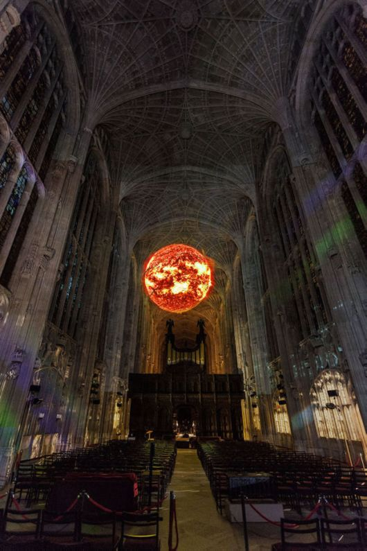 Projection Mapping Contemporary Art Over Chapel