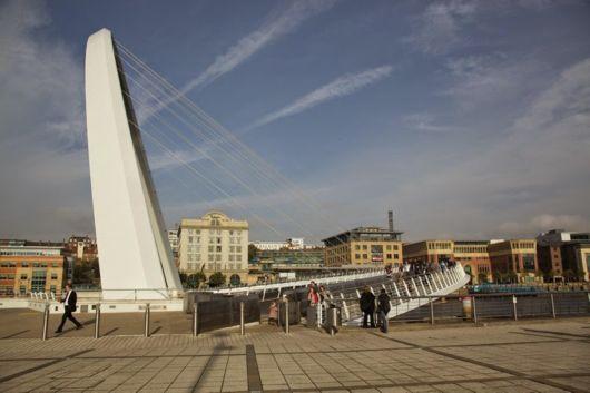 The Gateshead Millennium Bridge In England
