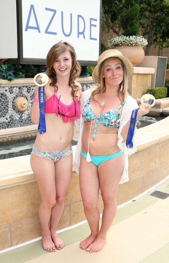 Jamie Anderson And Kaitlyn Farrington At Azure