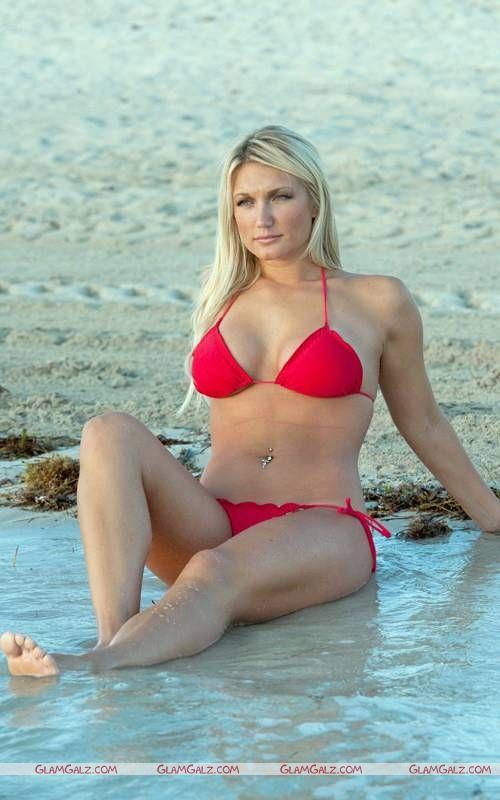 Brooke Hogan on the Beach