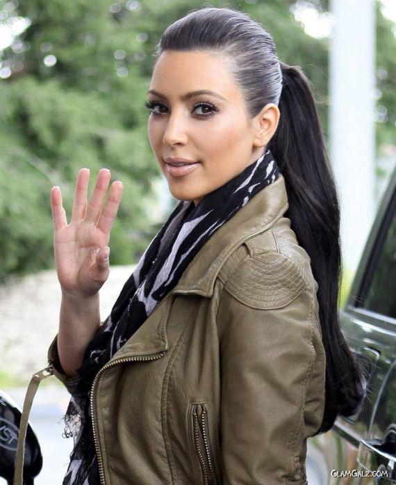 Supermodel Miss Kardashian at Gas Station