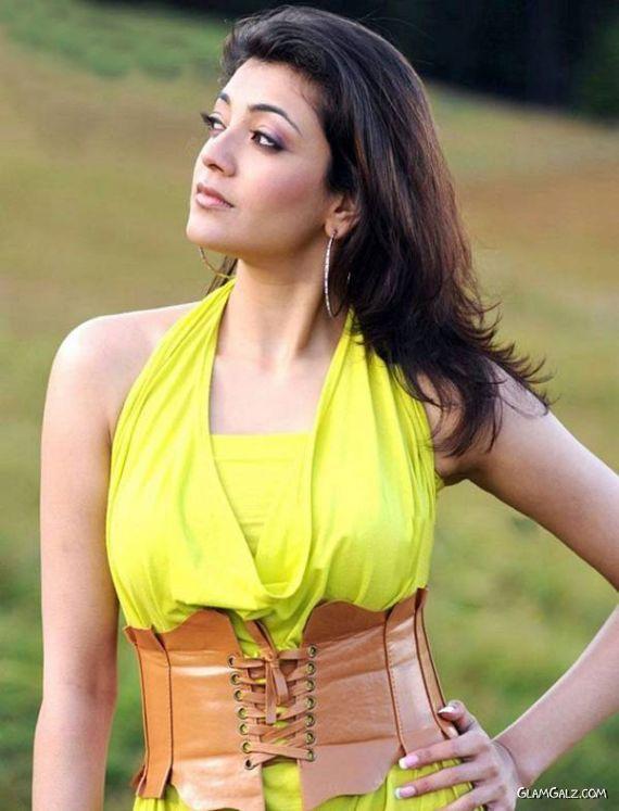 Lovely Kajal Agarwal in Yellow Dress
