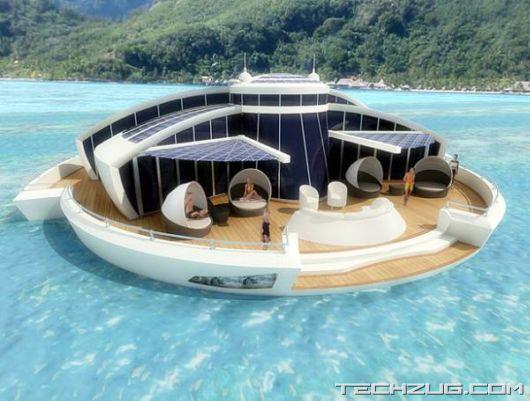 Solar Powered Floating Resort