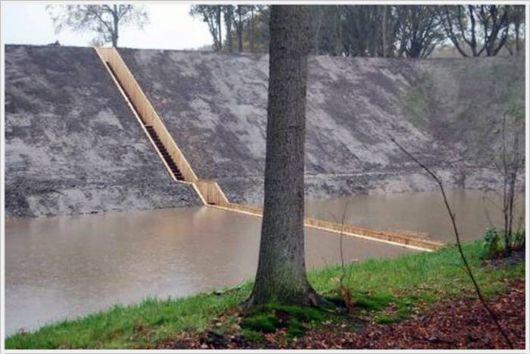 A Bridge Below The Water Surface