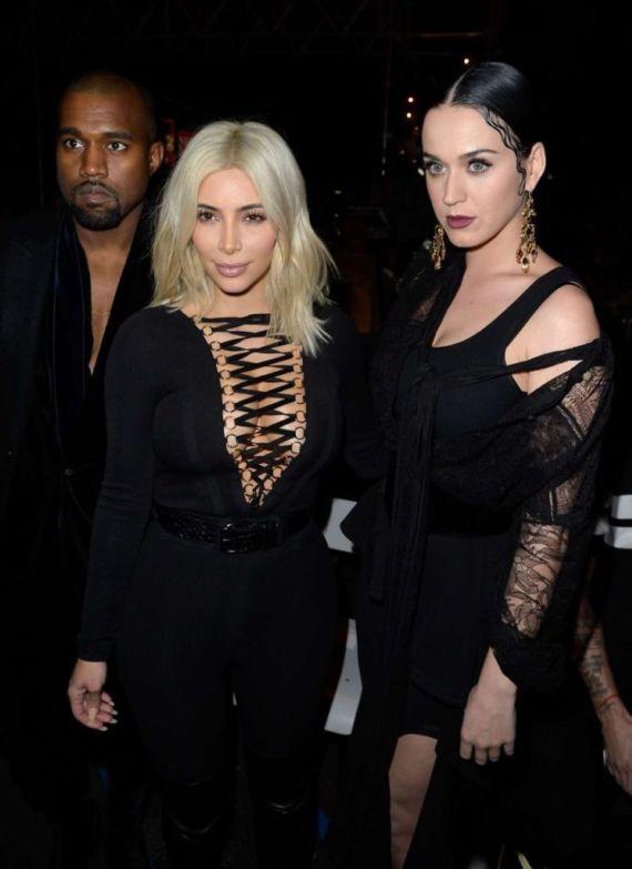 Katy Perry And Kim Kardashian At Givenchy Fashion Show