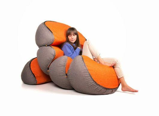 Creative Mandarin Pouf Design