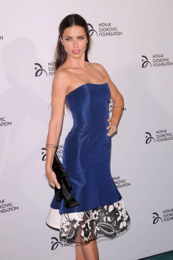 Beautiful Adriana Lima At Novak Djokovic Foundation Event