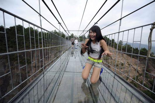 People Scared Of Worlds Longest Glass Bridge