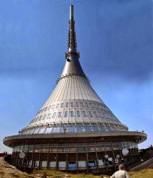Jested Liberec Hotel Tower In Czech Republic'