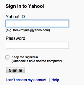 yahoo mail password recovery