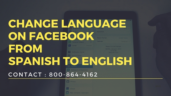 Change language on Facebook from Spanish to English