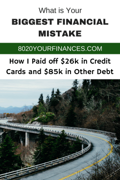 My biggest financial mistake meant having to pay off $26,000 in credit card debt and $85,000 in total debt, not including student loans or mortgages